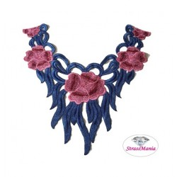 Pizzo floreale 3D a collana